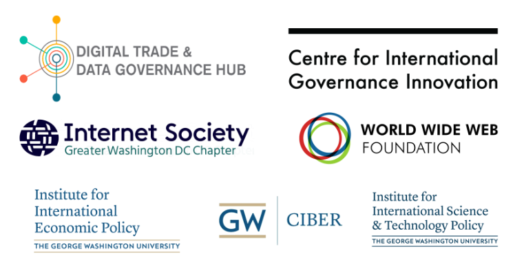 "Logos for ""Innovations in Digital Trade Agreements"" Event"