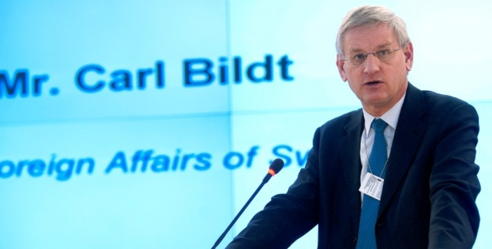 Carl Bildt, former Prime Minister and Foreign Minister of Sweden, is chair of the Global Commission on Internet Governance. (UN Photo/Jean-Marc Ferré)