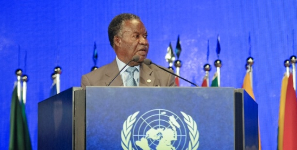 Michael Chilufya Sata, President of the Republic of Zambia, addresses the plenary session of the UN Rio+20 Conference on Sustainable Development, in Rio de Janeiro, Brazil, in June 2012. President Sata has been a vocal opponent of dual citizenship for the diaspora, says blogger Sujata Ramachandran. (UN Photo/Luiz Roberto Lima)