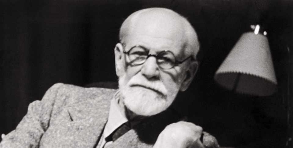 Former Austrian psychoanalyst Sigmund Freud in his working room in 1938 (AP Photo/Sigmund Freud Museum).