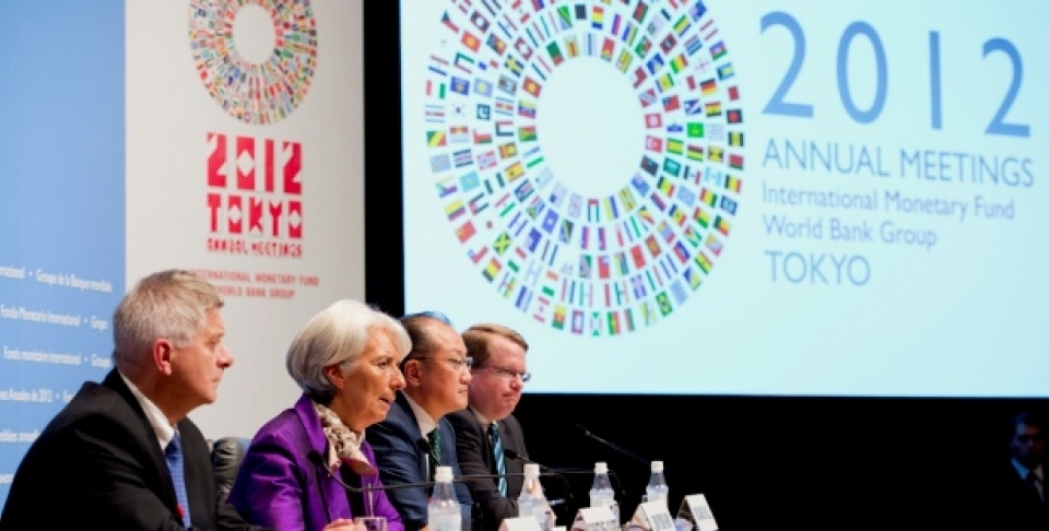 Development Committee Press Conference at the 2012 Tokyo Annual Meetings of the IMF and World Bank Group (Ryan Rayburn/World Bank).