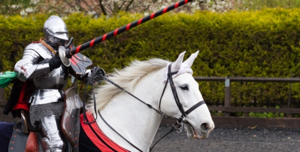 Jousting competition at the tiltyard, April 16, 2012, at The Royal Armouries, Leeds in England (Shutterstock)