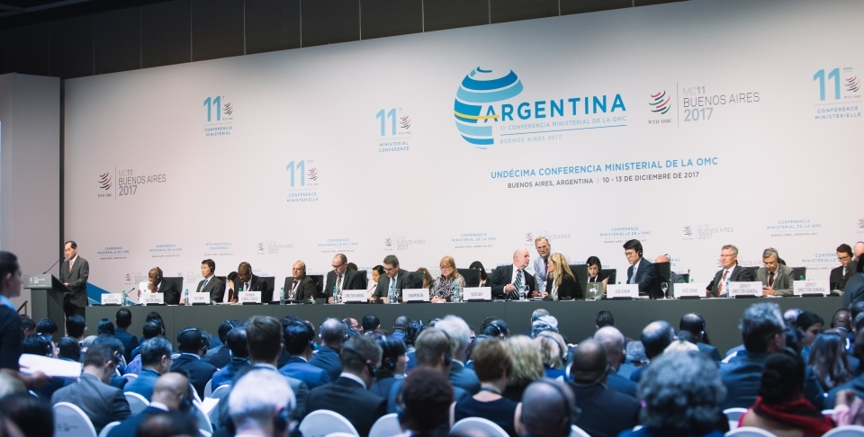 Opening plenary at the World Trade Organization Ministerial Conference. (WTO/ Cuika Foto)