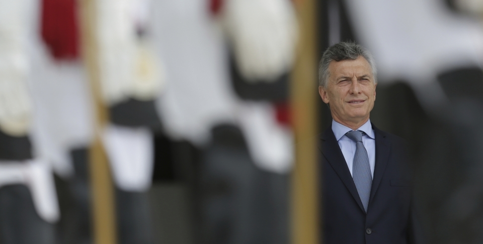 Argentina's President Mauricio Macri will host the G20 in 2018 (AP Photo/Eraldo Peres)