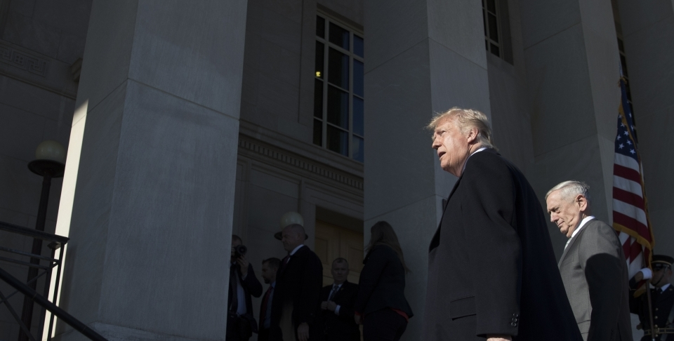 President Donald Trump walks into the Pentagon on January 18, 2018. Earlier that week, he made infamously vulgar comments about Haiti, El Salvador and African countries. (AP Photo/Carolyn Kaster)