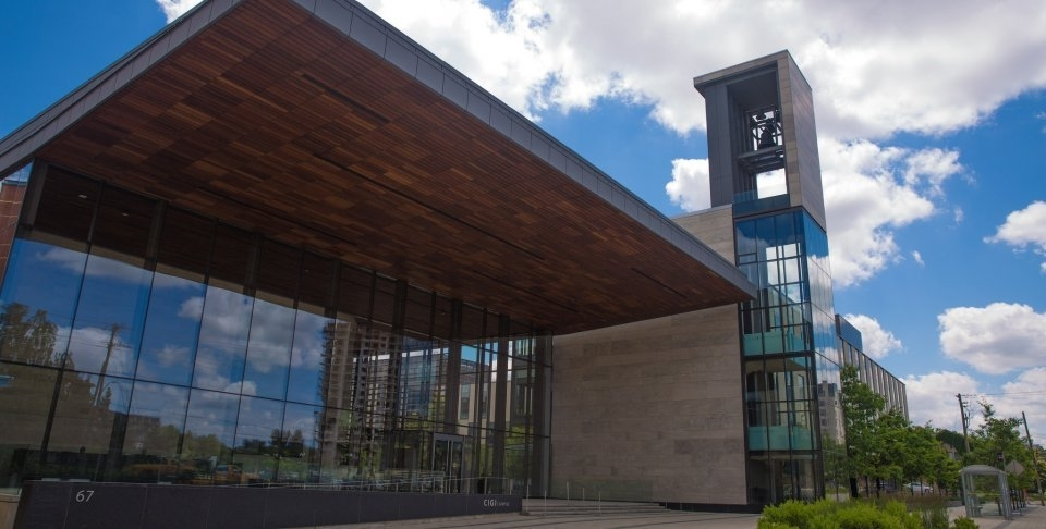 CIGI campus entrance in Waterloo, Ontario