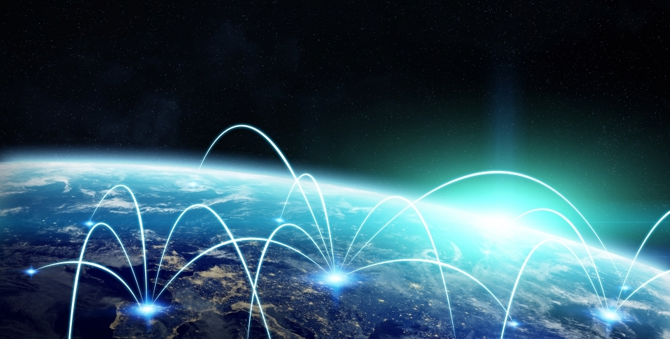 Network and satellite data exchange over planet earth in space 3D rendering elements of this image furnished by NASA. (Shutterstock)