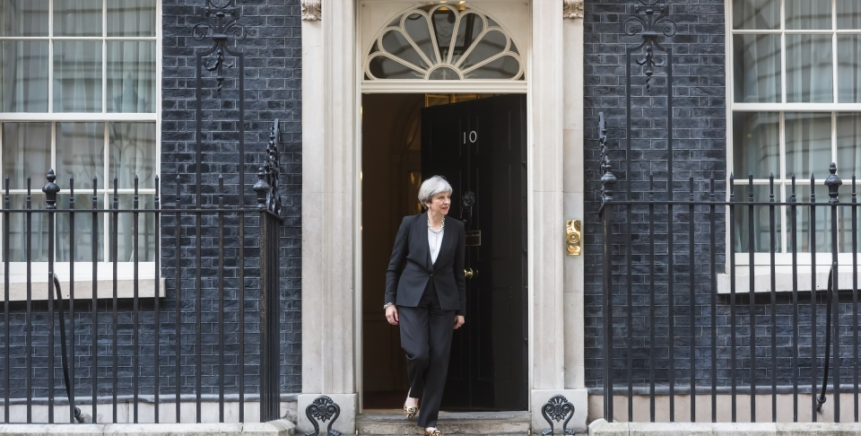 Prime Minister Theresa May at 10 Downing Street. (AP Photo/Frank Augstein)