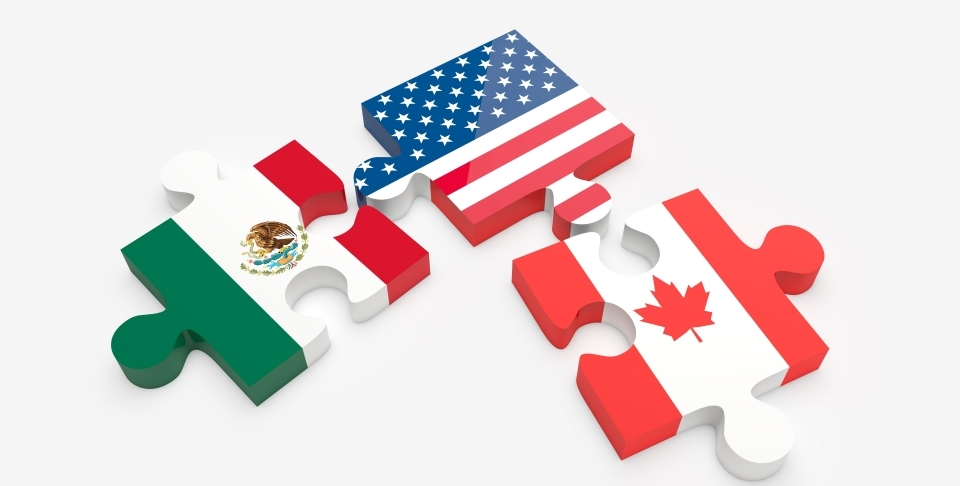 Parties to NAFTA (via Shutterstock)