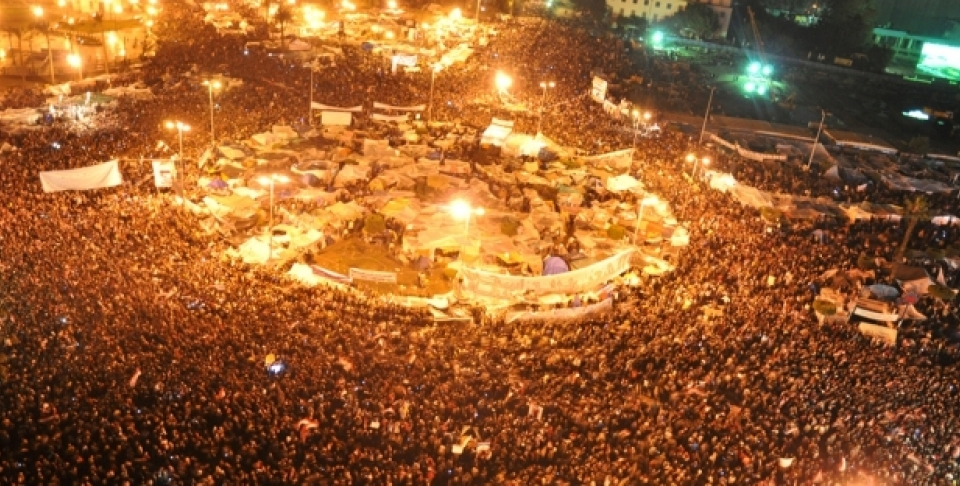 Wikimedia Commons: Over two million protesting in Tahrir Square in Cairo, February 11, 2011. (Jonathan Rashad) http://commons.wikimedia.org/wiki/File:Millions_of_protestors_in_Tahrir_Square.jpg