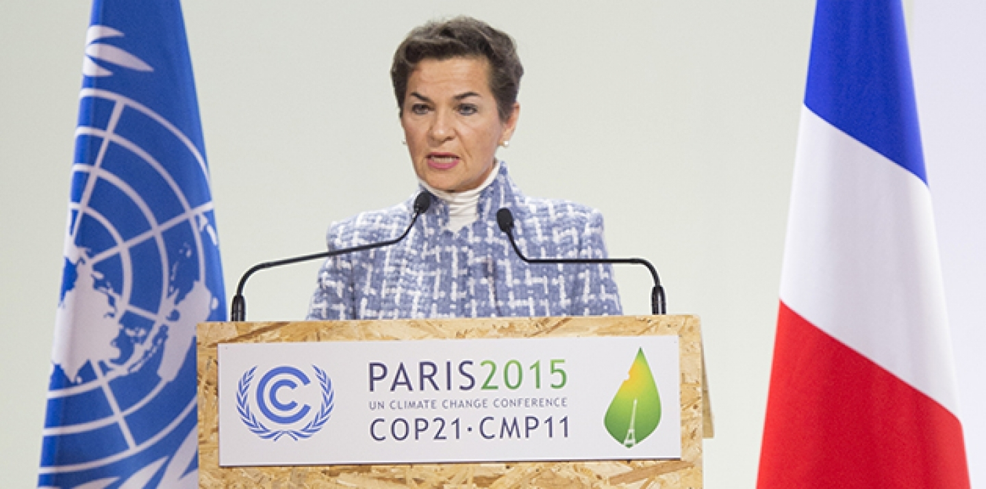 Christiana Figueres, Executive Secretary of the UN Framework Convention on Climate Change (UNFCCC), addresses the opening of the High-level Segment of the UN Climate Change Conference in Paris (COP21), on December 7, 2015. (UN Photo/Eskinder Debebe)