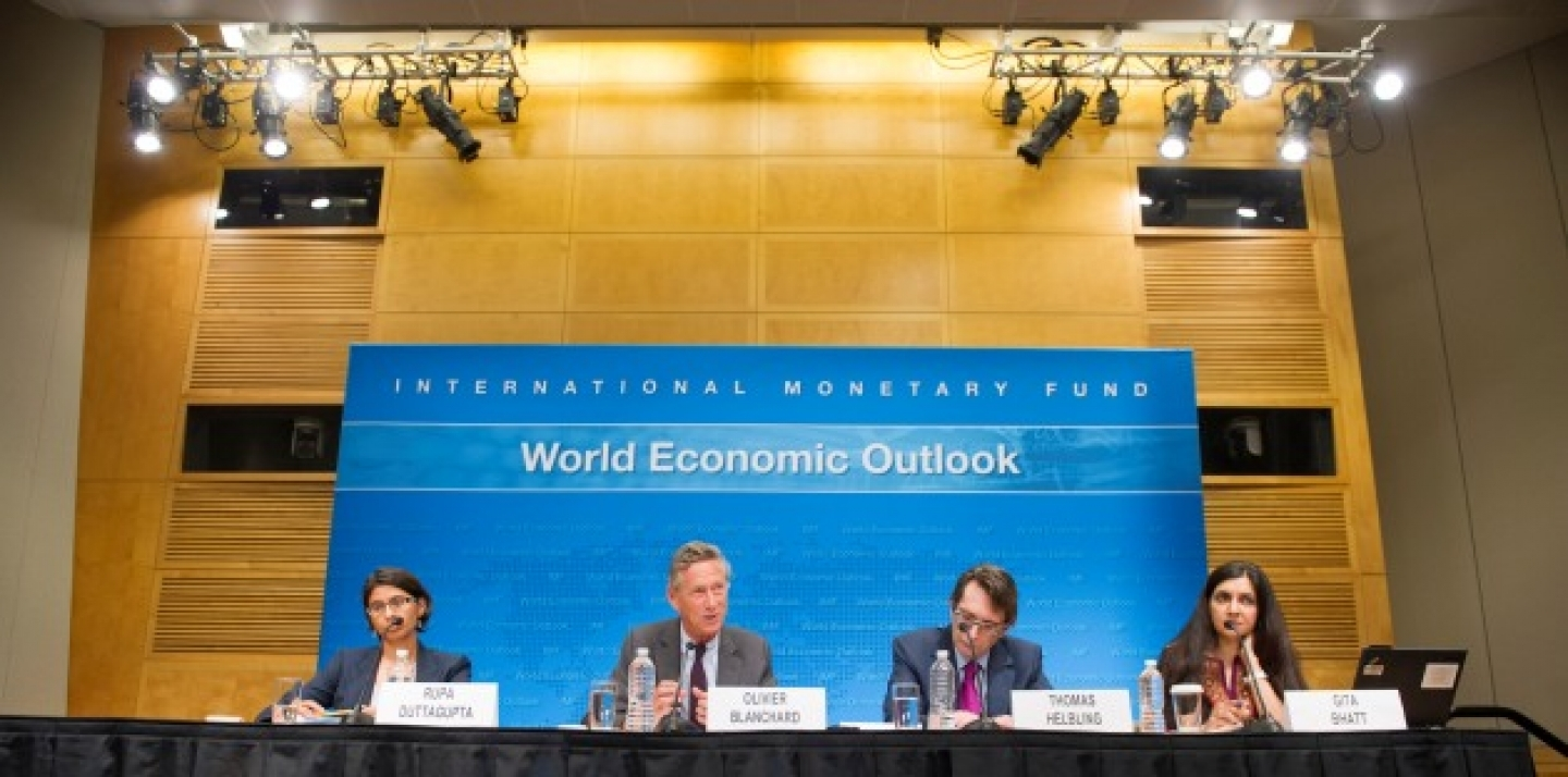 World Economic Outlook Press Conference at IMF HQ in Washington D.C., July 9, 2013. (IMF Photo)