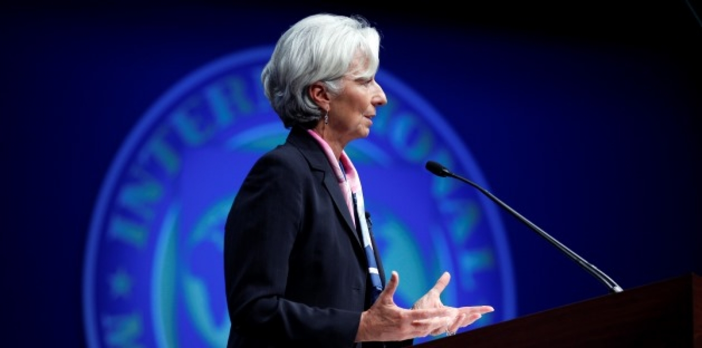 International Monetary Fund (IMF) Managing Director Christine Lagarde speaks at IMF/ World Bank Annual Meetings Plenary in Washington.(AP Photo/Jose Luis Magana)