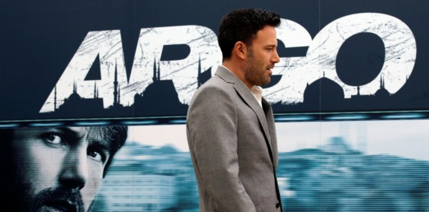 "Actor Ben Affleck poses for photographers during a photocall presenting his movie ""Argo"" in Rome, Friday, Oct. 19, 2012. (AP Photo/Gregorio Borgia)"