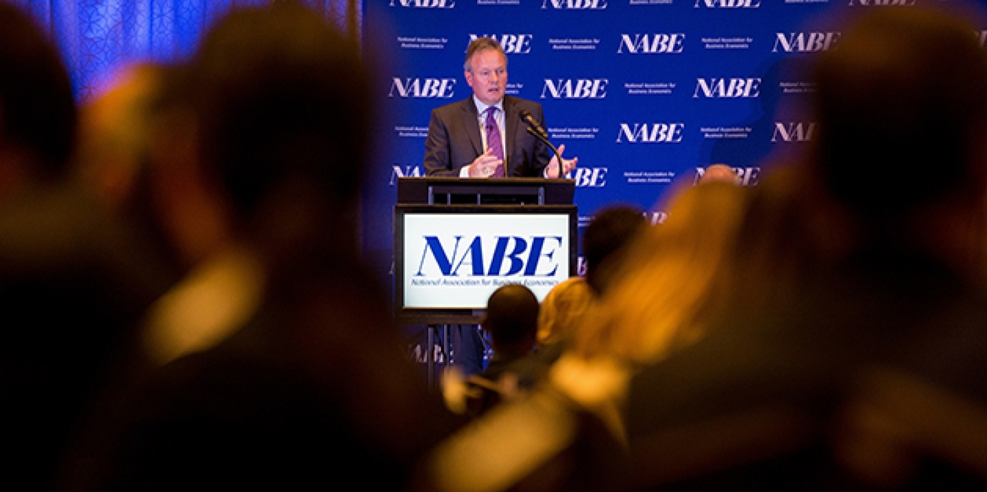 Bank of Canada Gov. Stephen Poloz speaks before the National Association for Business Economics on October 12, 2015, in Washington. (AP Photo/Andrew Harnik)