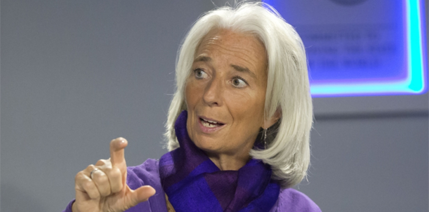 International Monetary Managing Director Fund Christine Lagarde speaks during the World Economic Forum in Davos, Switzerland, in January 2014. (AP Photo/Michel Euler)
