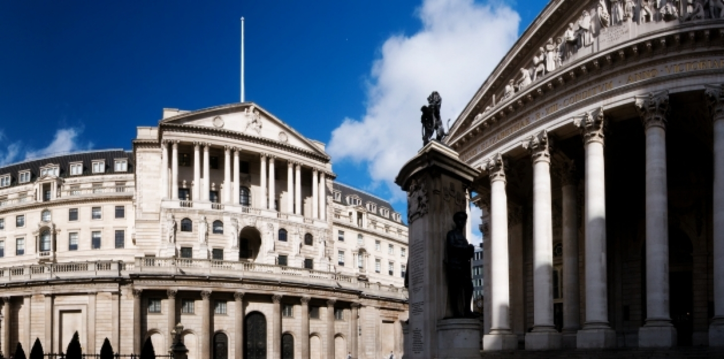 A panorama of the Bank of England in London. (Shutterstock)