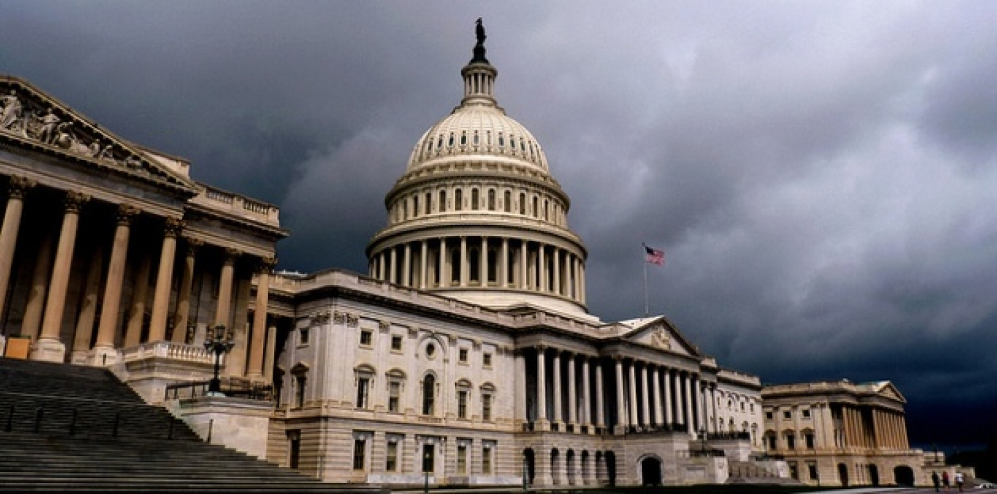 The United States Capital in grey skies (AP Microstock).