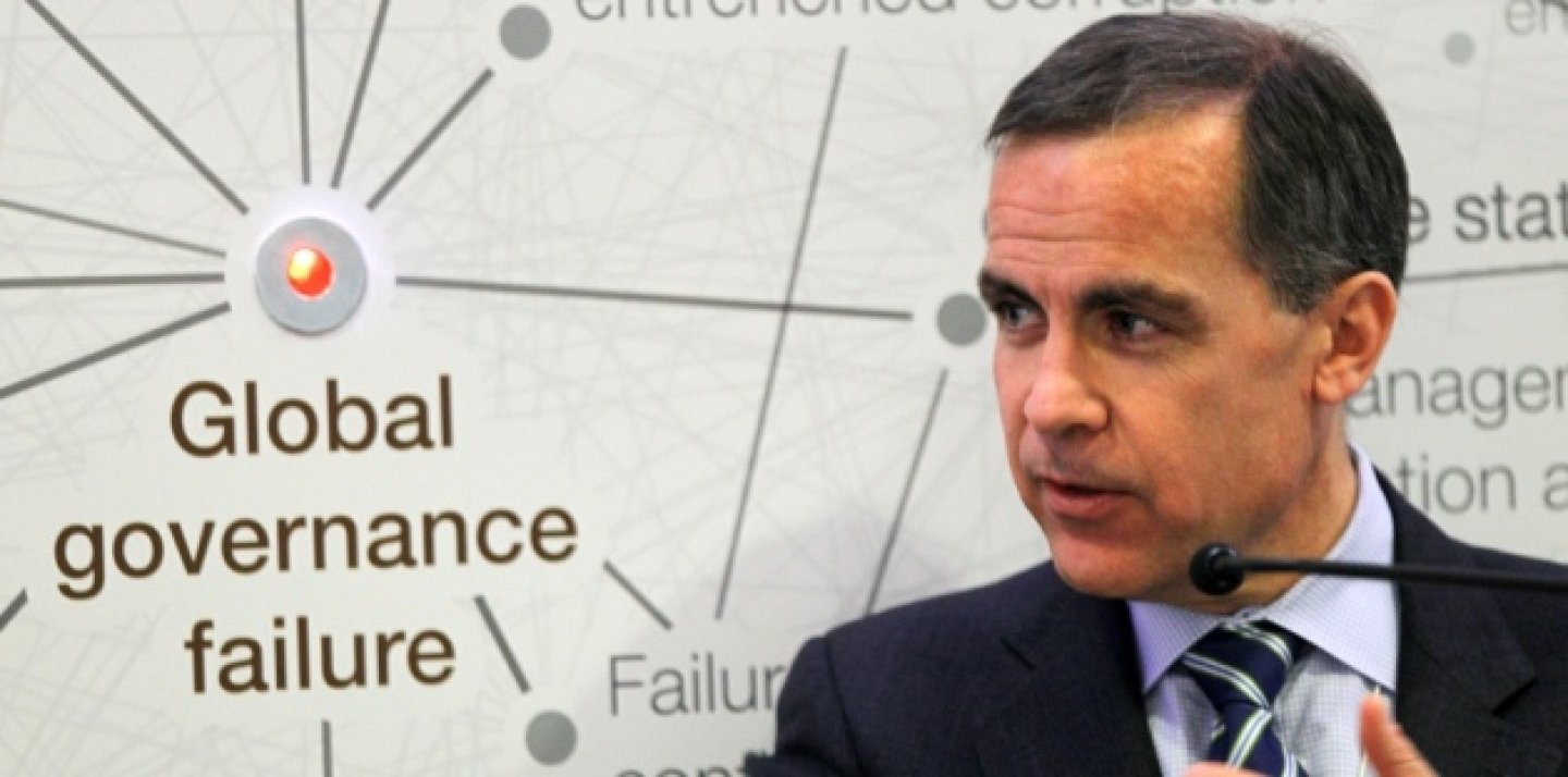 Bank of Canada governor Mark Carney, gestures as he speaks during a session at the World Economic Forum in Davos, Switzerland, Wednesday, Jan. 25 ,2012. (AP Photo/Michel Euler)
