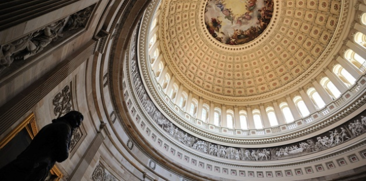 Interior of the U.S. Congress building dome. (Photo by Mith Huang via Flickr CC)