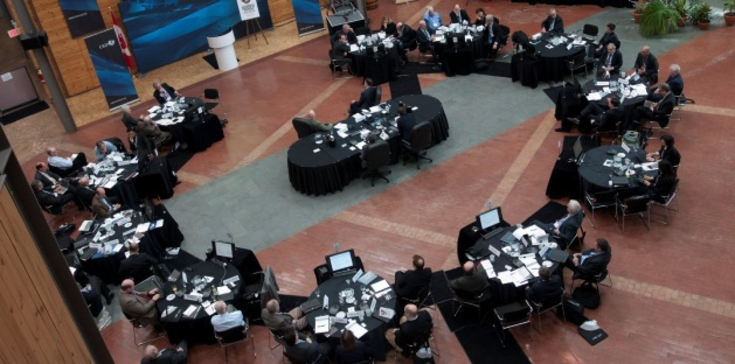 A birds-eye view of the CIGI-INET sovereign debtors conference (Lisa Malleck/CIGI Photo).