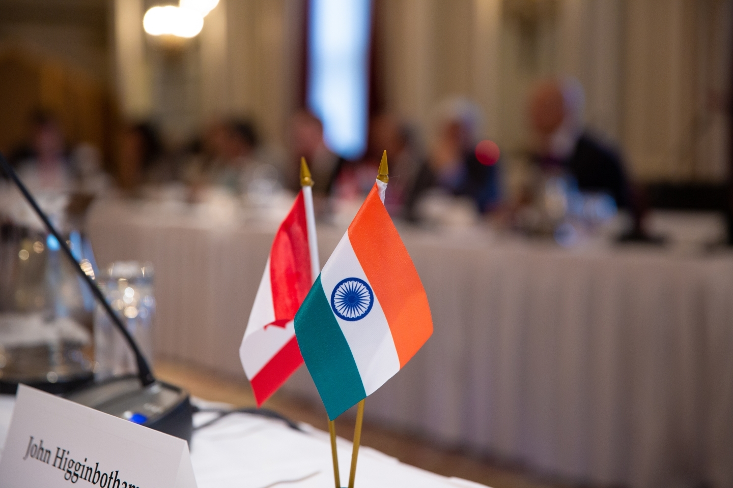 Flags of Canada and India. (CIGI Photo)