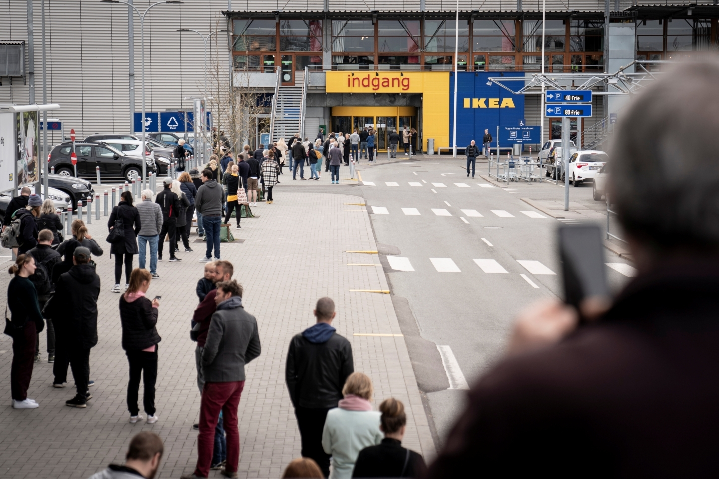 Ikea reopens their department store following the outbreak of the coronavirus disease (COVID-19) in Gentofte, near Copenhagen, Denmark on April 27, 2020. (Reuters/Ritzau Scanpix Denmark)