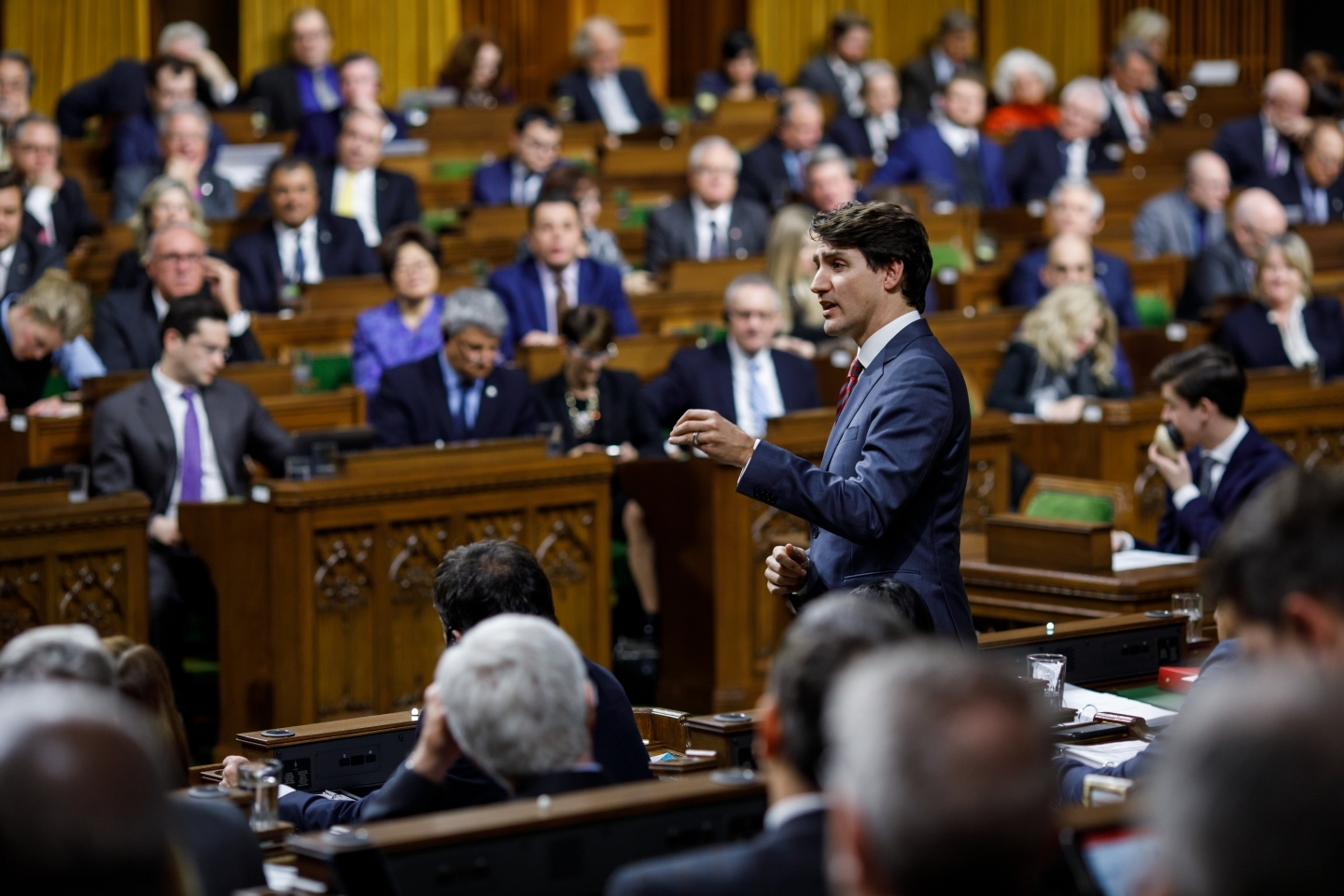 Prime Minister Justin Trudeau during question period in the House of Commons on January 30, 2019. (PMO Photo/Adam Scotti)