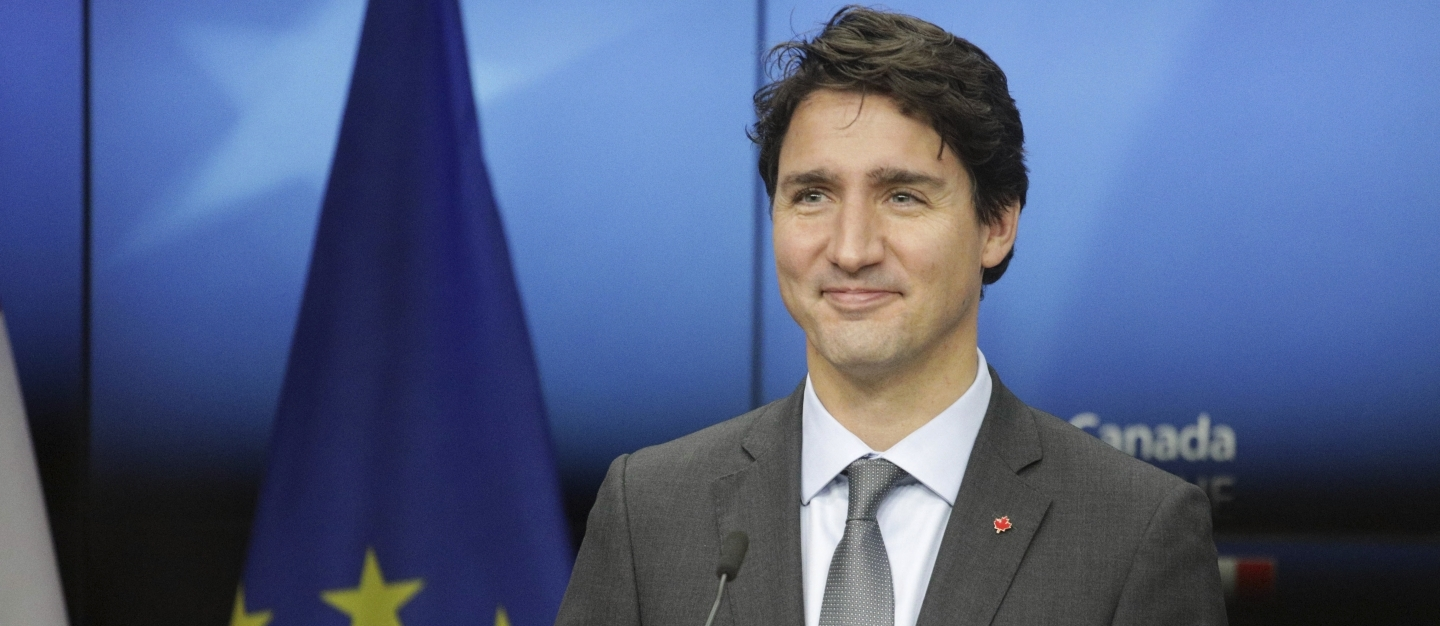 Canadian Prime Minister Justin Trudeau in Brussels on Oct. 30, 2016 (AP Photo/Olivier Matthys)