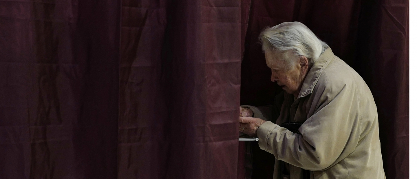 A voter casts a ballot in Lille, France for the conservative presidential nominee (AP Photo/Michel Spingler)