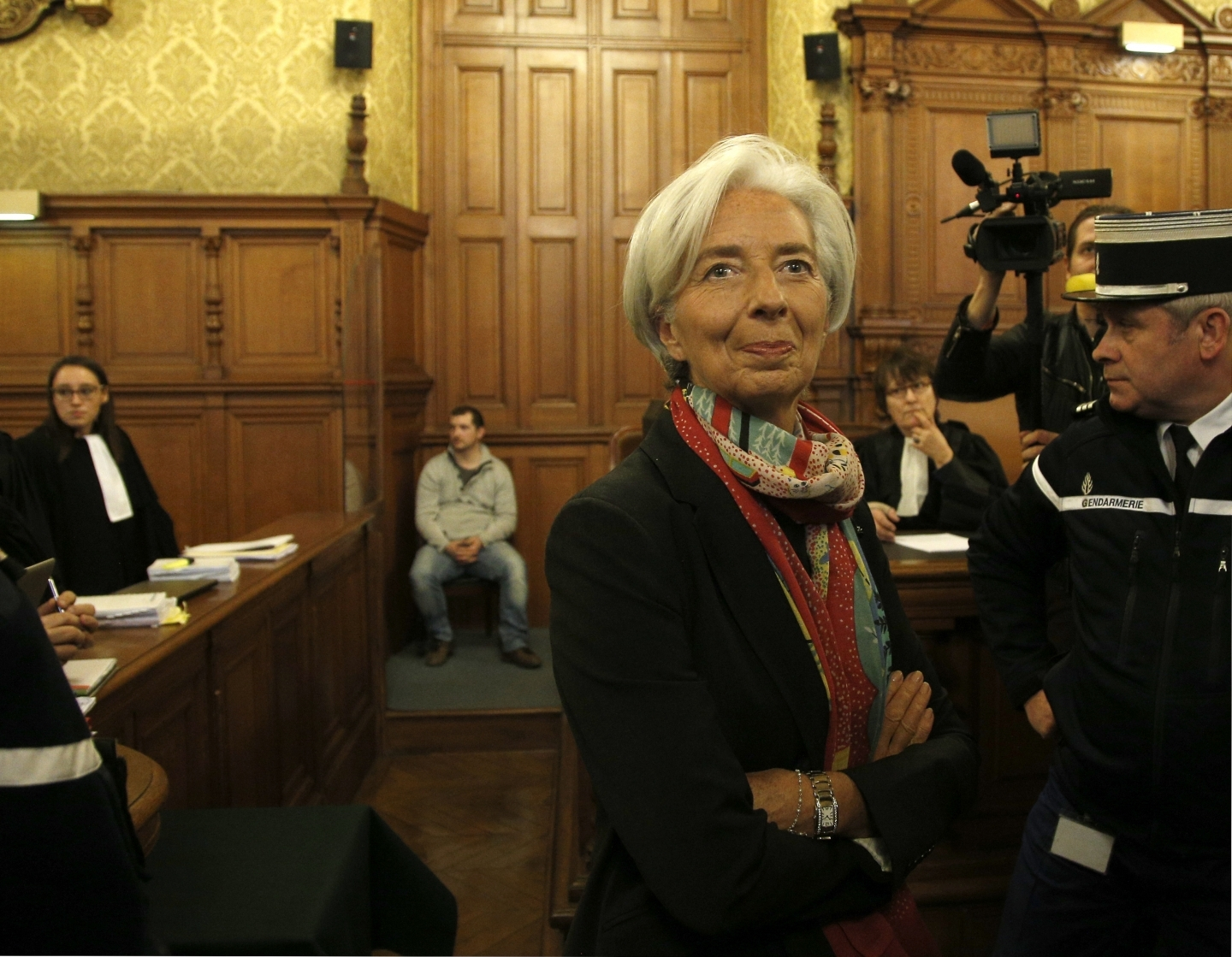 International Monetary Fund chief Christine Lagarde arrives at the special Paris court, France, Monday, Dec. 12, 2016 (AP Photo / Thibault Camus)