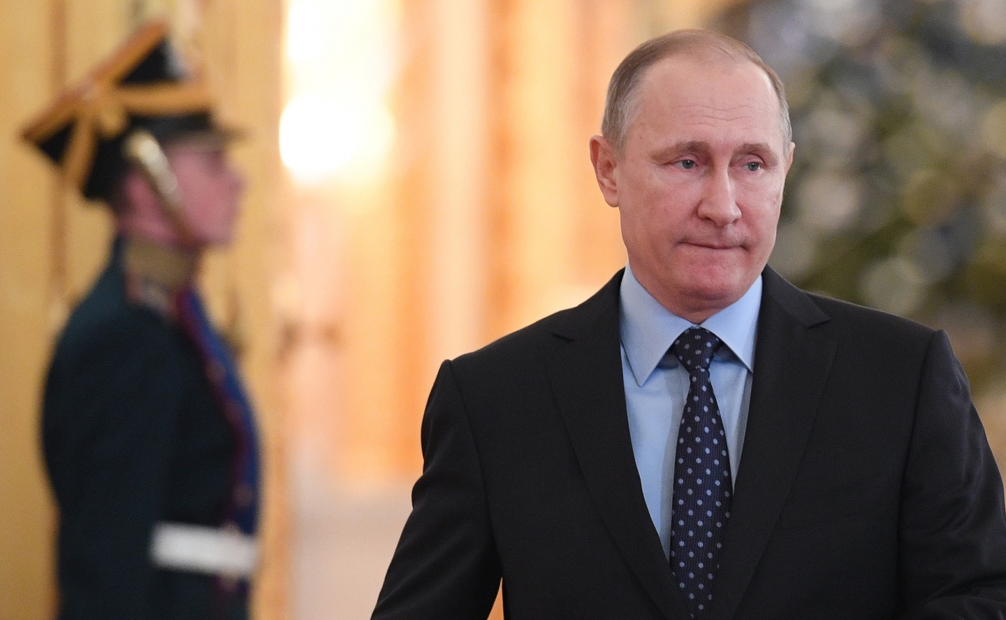 Russian President Vladimir Putin in Kremlin (Natalia Kolesnikova/ Pool photo via AP)