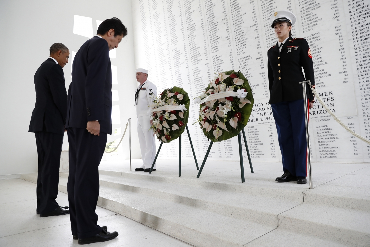Abe & Obama Pearl Harbor / ASSOCIATED PRESS