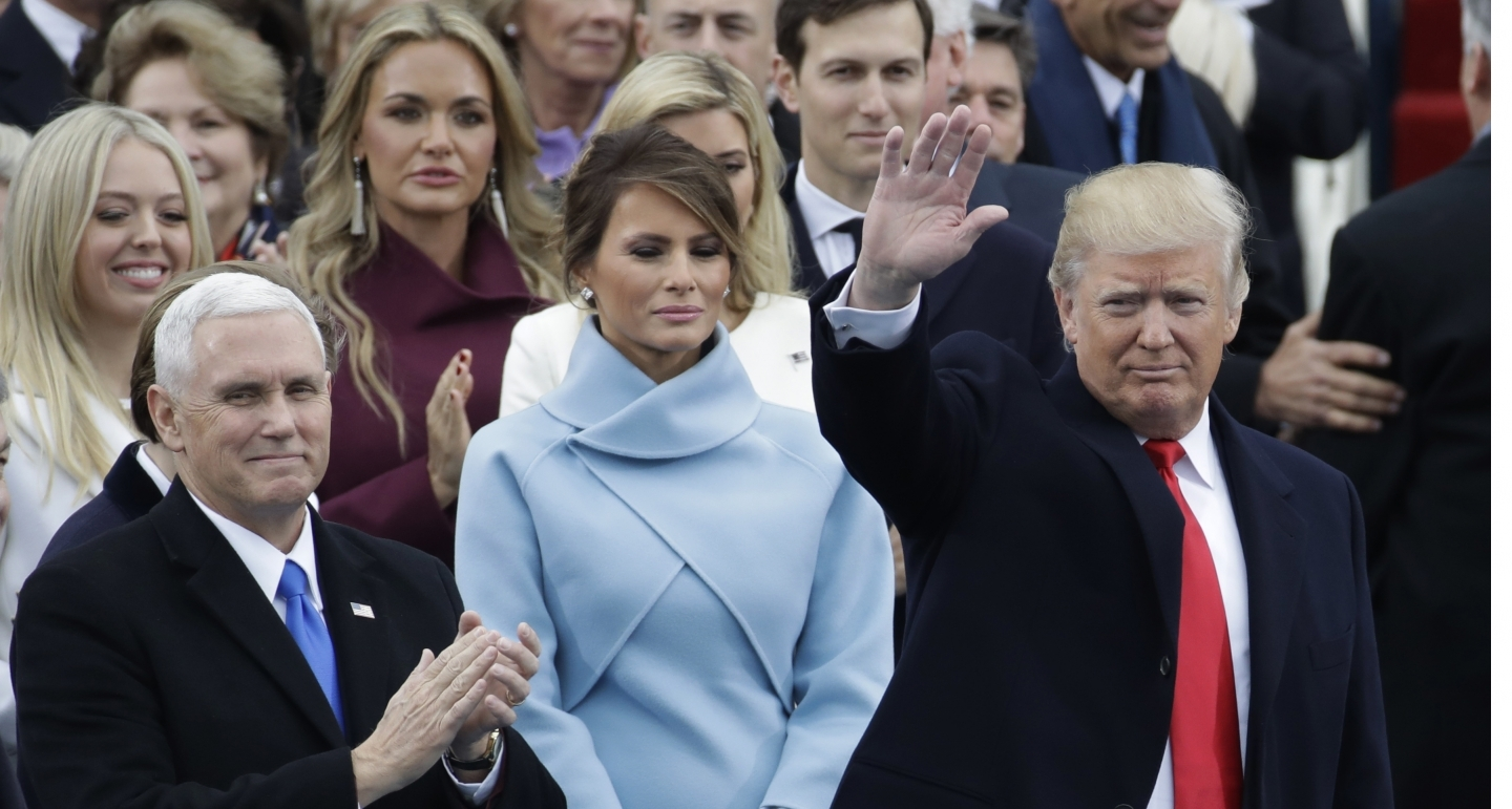 US President Donald Trump at his inauguration (AP Photo)