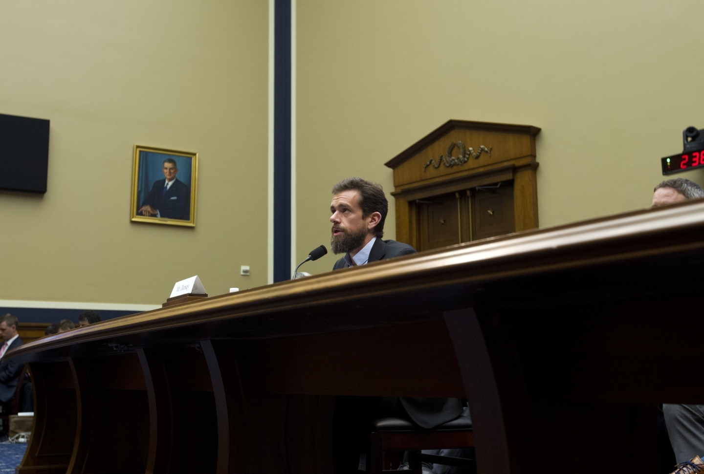 Twitter CEO Jack Dorsey testifies before the House Energy and Commerce Committee on Capitol Hill, on September 5, 2018, in Washington. (AP Photo/Jose Luis Magana)