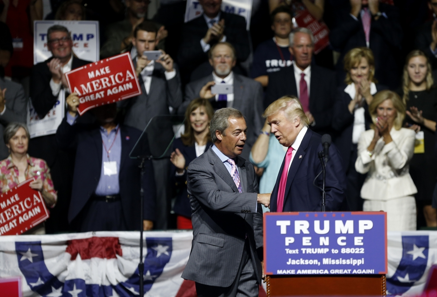 Brexit champion and former UKIP leader Nigel Farage with US President-elect Donald Trump