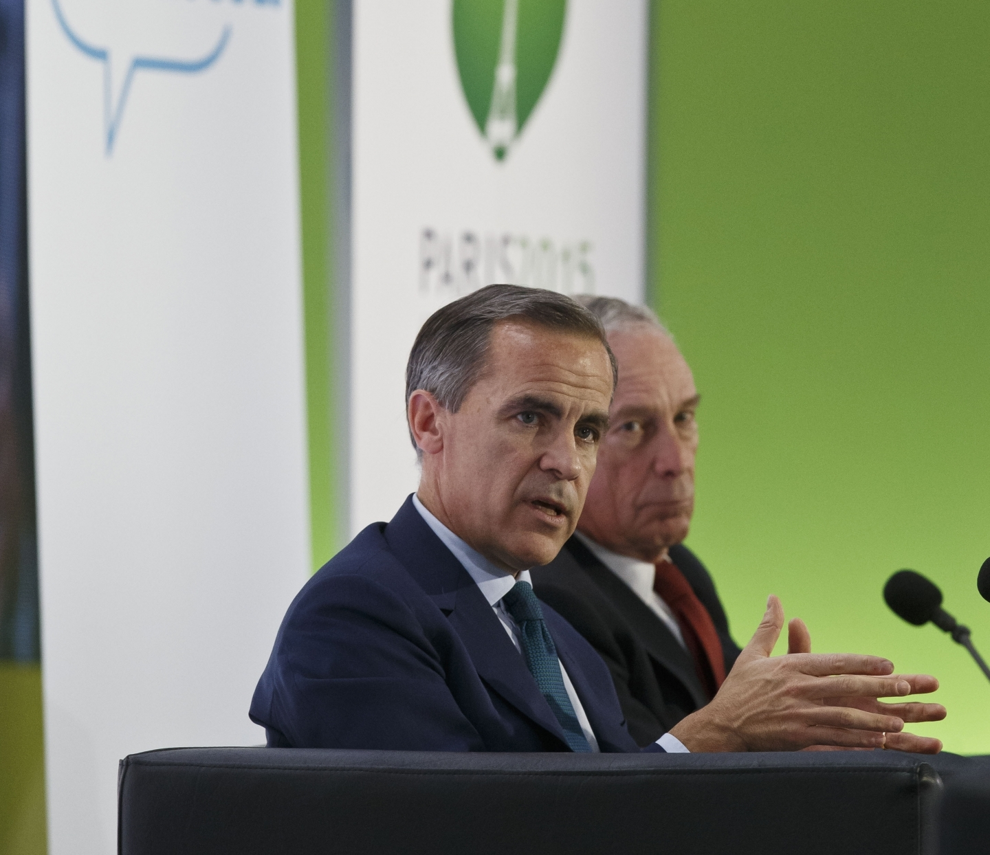 Mark Carney, Bank of England governor, with Michael Bloomberg, former mayor of New York