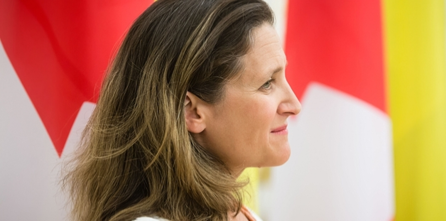 Canadian Trade Minister Chrystia Freeland (Drop of Light / Shutterstock)