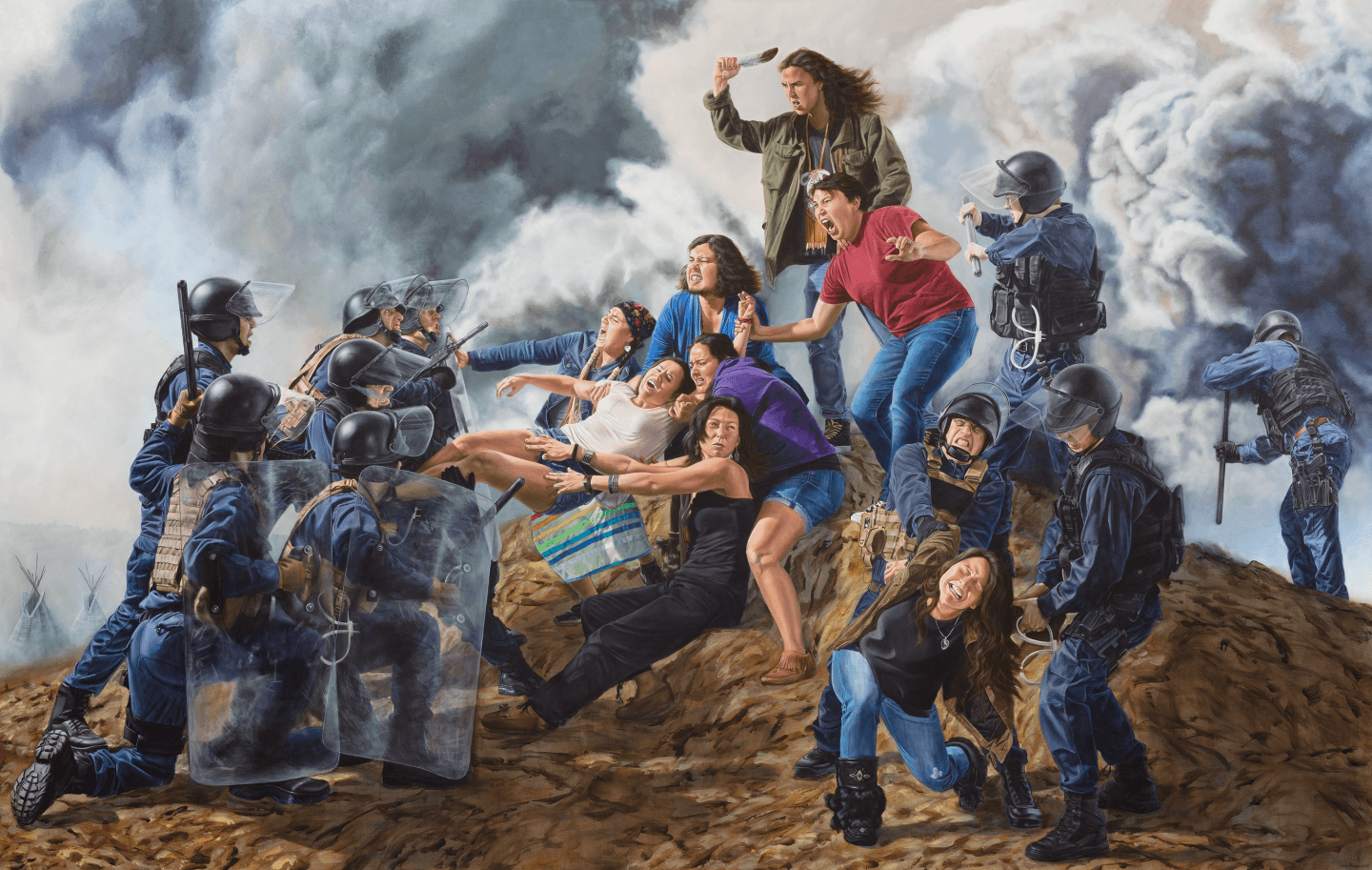 With Our Bodies We Protect the Land by Kent Monkman