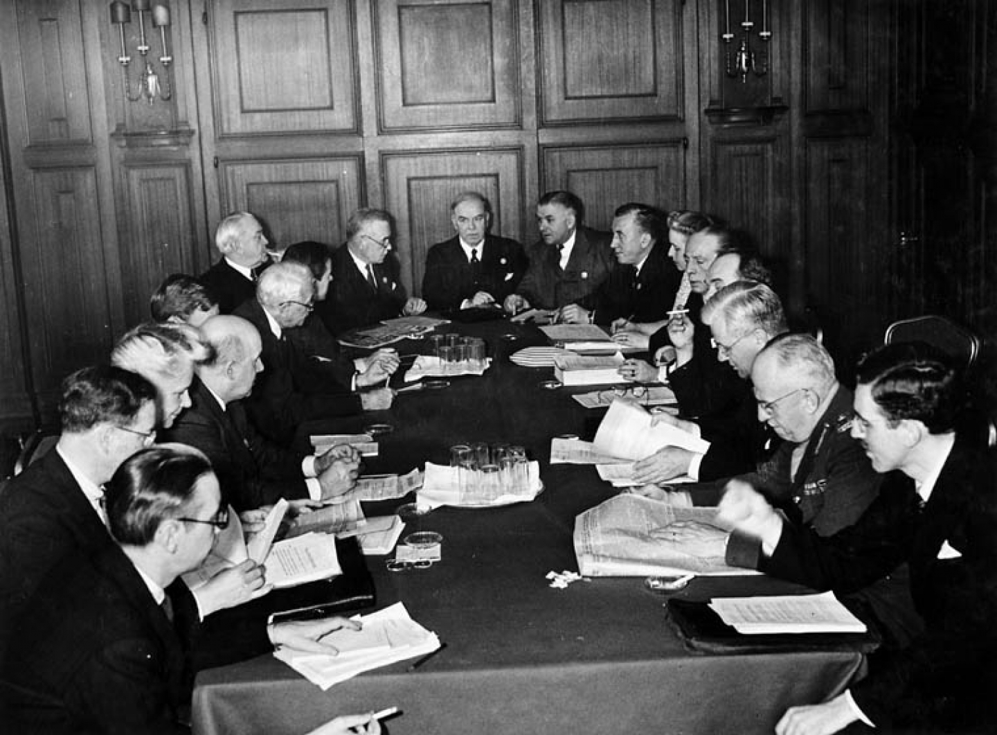 The Canadian delegation at the San Francisco Conference founding the United Nations in May 1945. (Wikipedia photo/Nicholas Morant)