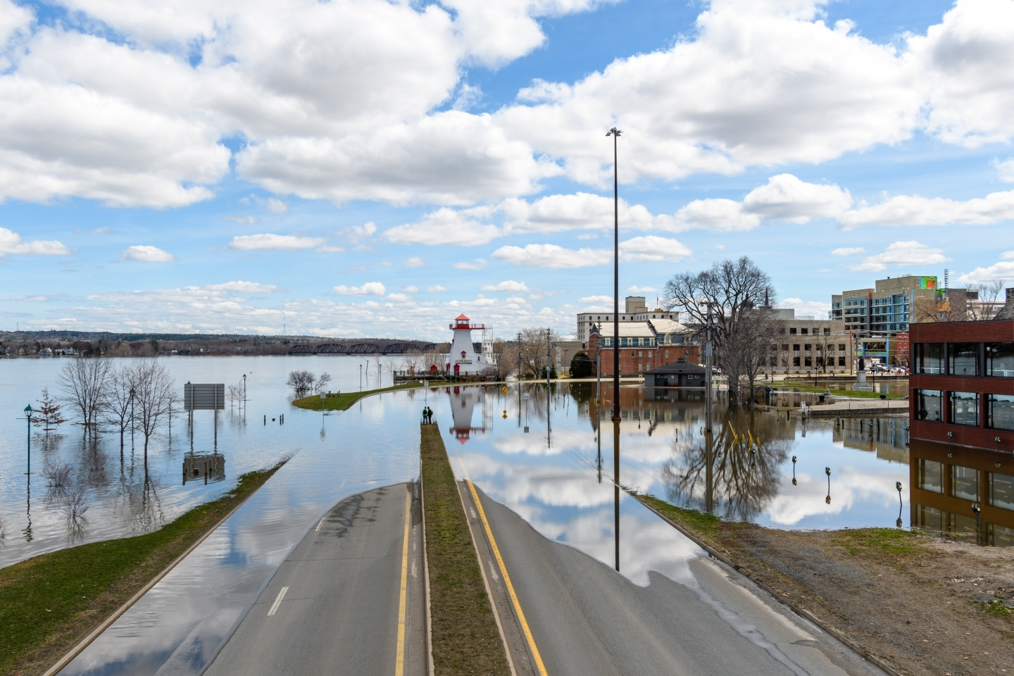 Flooding in Fredericton, New Brunswick. (Shutterstock)