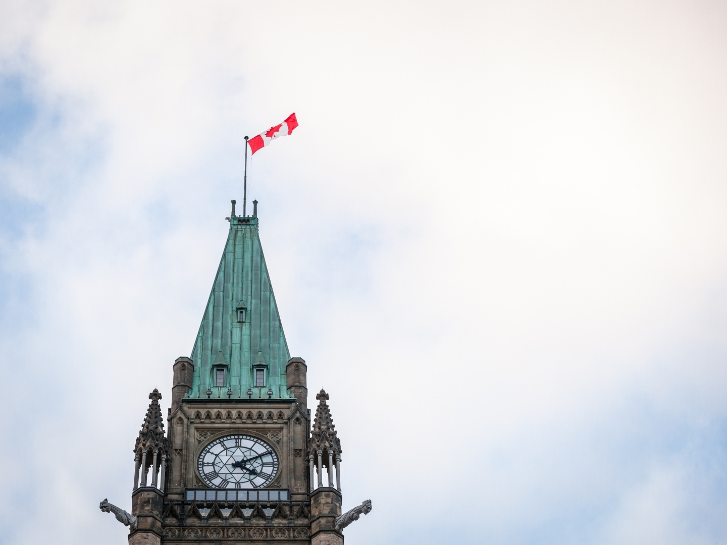 The clock tower at the centre block of Canadian Parliament. (Shutterstock)