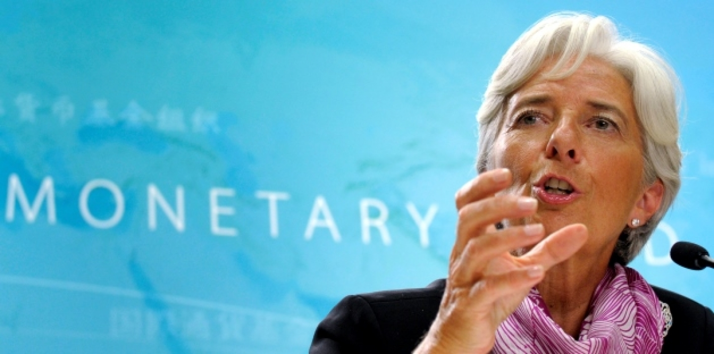 International Monetary Fund (IMF) Managing Director Christine Lagarde speaks at her first news conference at IMF headquarters in Washington. (AP Photo/Susan Walsh, File)