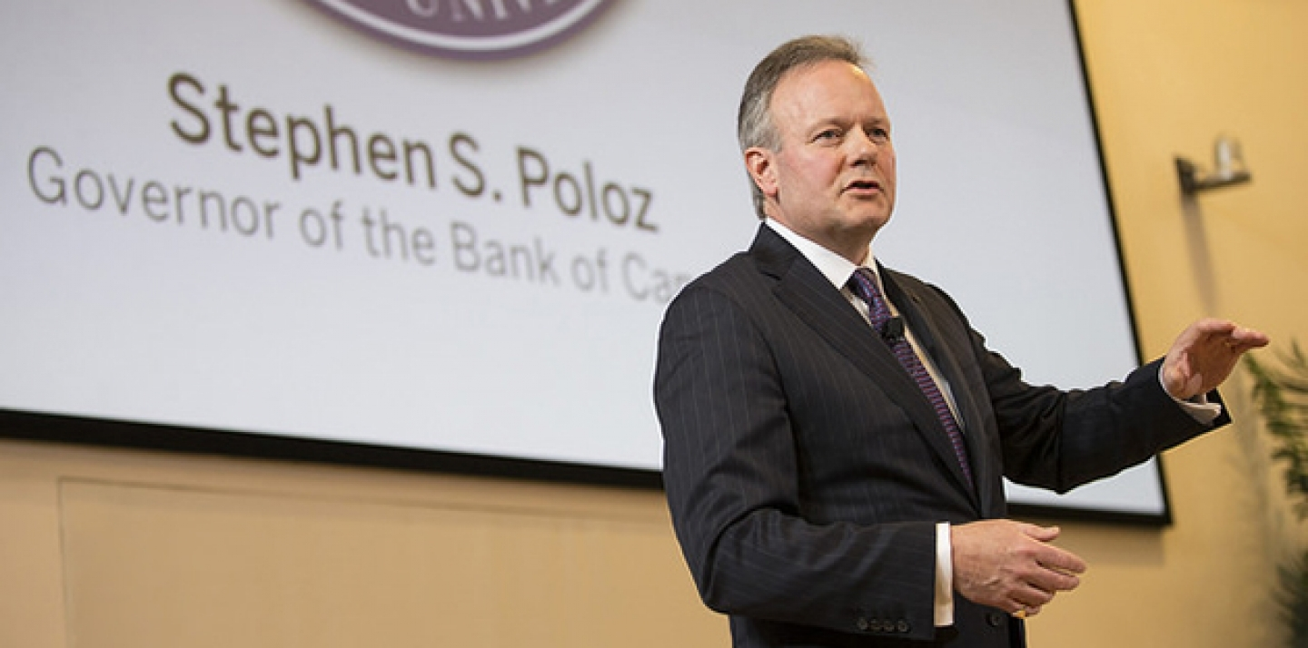 Speech by Stephen S. Poloz, Governor given at Western University (2015 President's Lecture Series), 24 February 2015. (Bank of Canada Photo via Flickr CC)