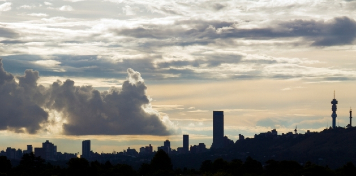 Silhouette of the Johannesburg skyline in South Africa (iStockphoto).