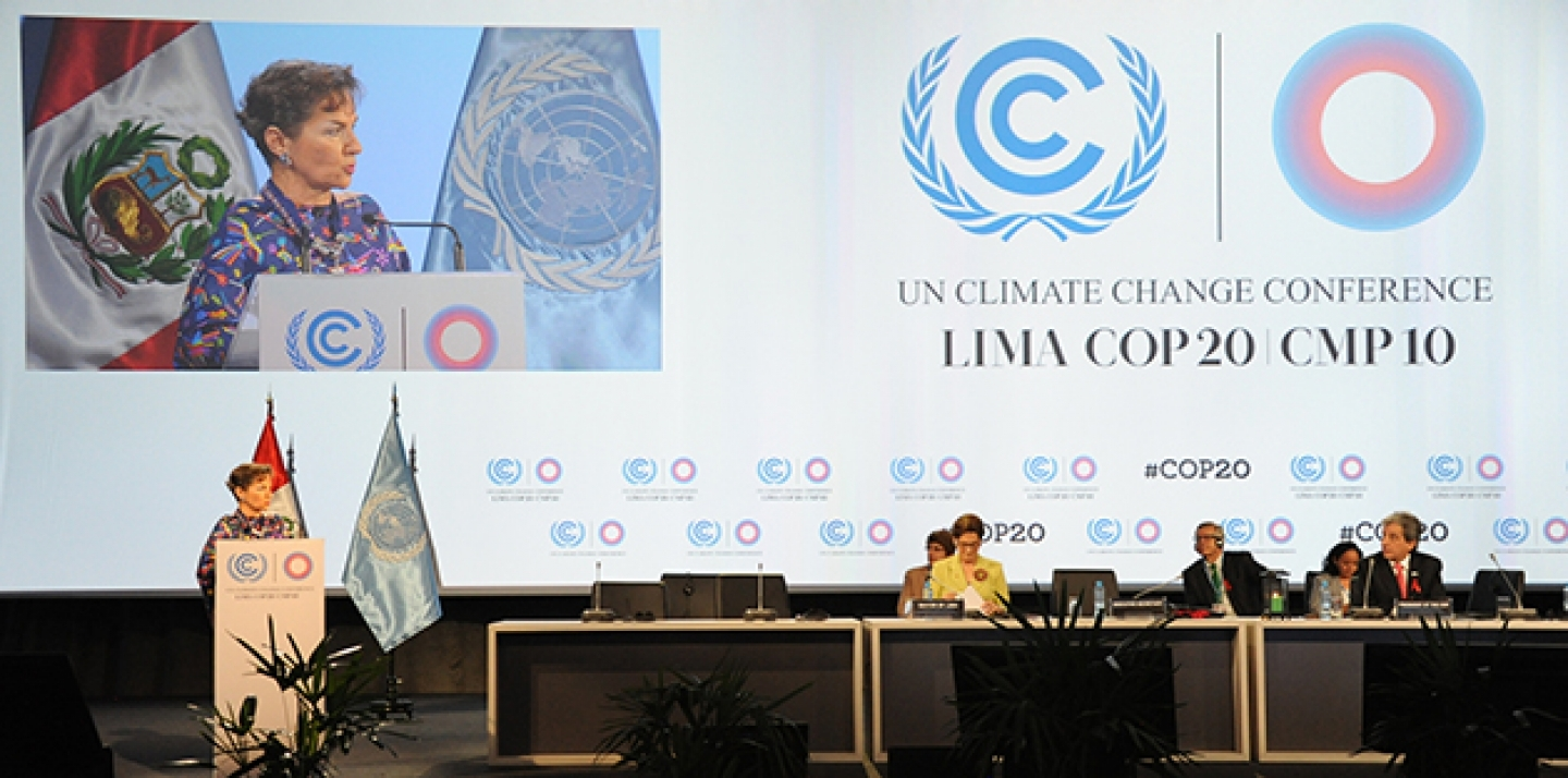 Christiana Figueres Executive Secretary, UNFCCC speaks on December 1, 2014 in Lima, Peru. (UNclimatechange Photo via Flickr CC)