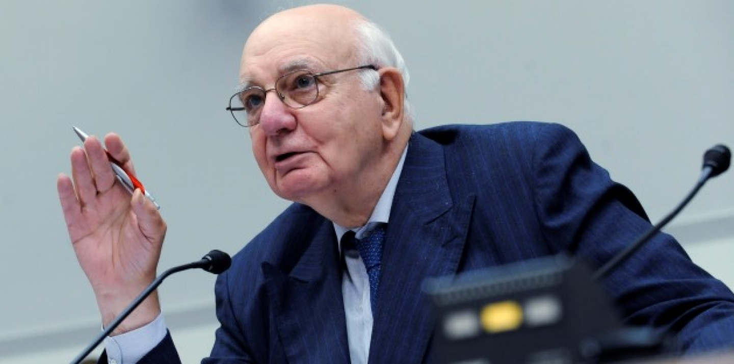 Former Federal Reserve Bank Chairman Paul Volcker. (AP Photo/Susan Walsh)