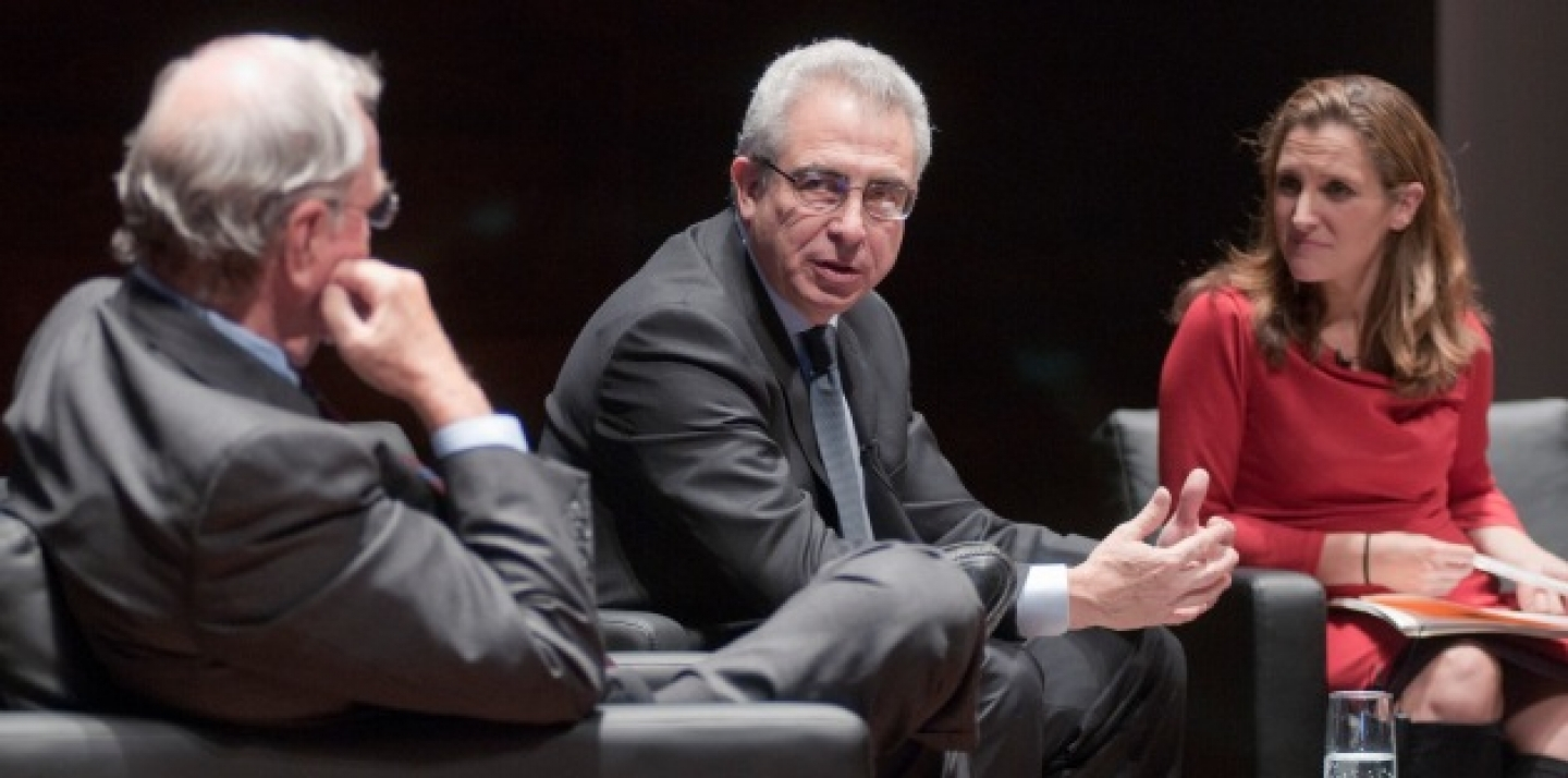 Ernesto Zedillo (centre), former president of Mexico, is one developing world candidate well-suited to the World Bank presidency (Lisa Malleck/CIGI Photo).