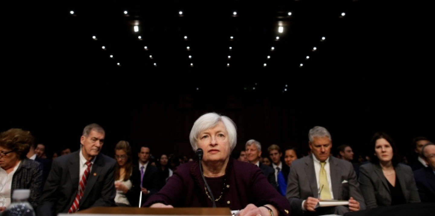 Federal Reserve Chair Janet Yellen testifies about the economy before the Joint Economic Committee of Congress.(AP Photo/Charles Dharapak)