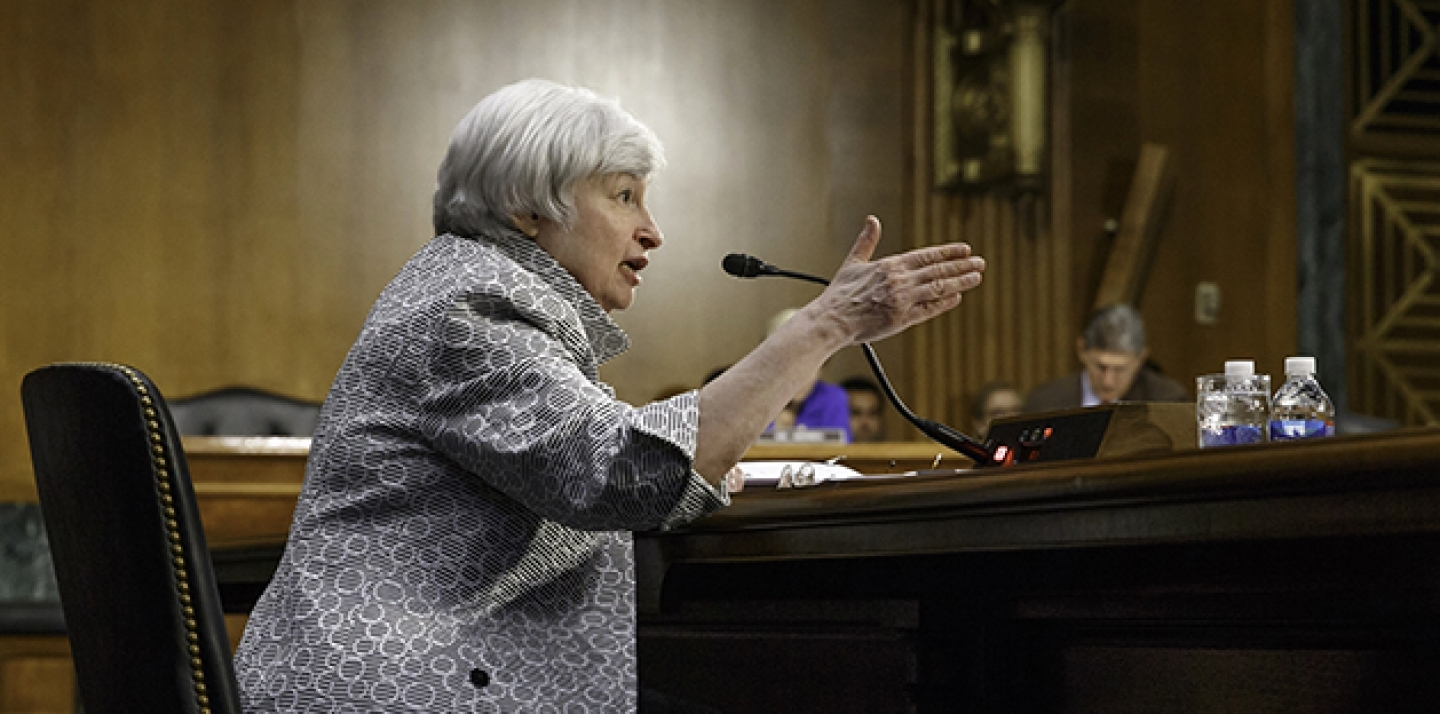 Federal Reserve Chair Janet Yellen on Capitol Hill in Washington. (AP Photo/J. Scott Applewhite)